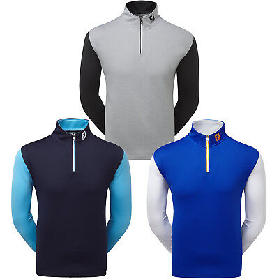 FootJoy Mens Double Layer Chillout Top 1/4 Zip Golf Sweater (Previous Season)