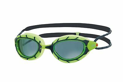 Zoggs Adults Predator Polarized Unique Bio-Tech Swim Goggles Green / Black