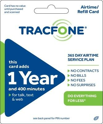 Tracfone 400 Minutes 1 Year Refill Card