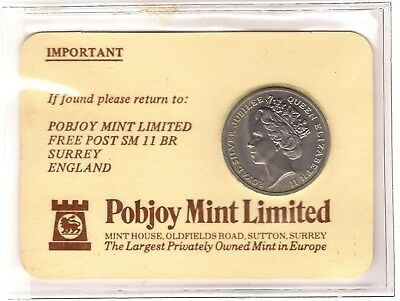 1977 Pobjoy Mint Priority Collectors membership Card***Collectors***Not Signed**