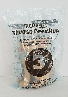 "Taco Bell 6"" Talking Chihuahua With Microphone Plush New"