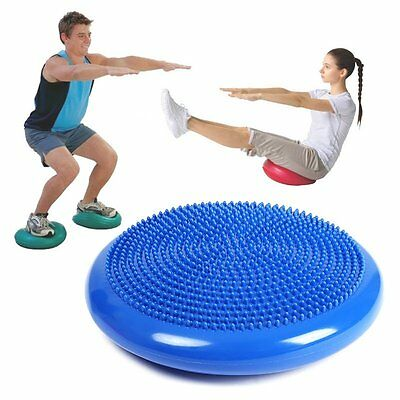Balance Stability Disc Yoga Cushion Fitness 14 inch  Inflatable EXPEDITE SHIPPIN