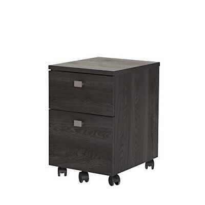South Shore Furniture Interface 2-Drawer Mobile File Cabinet, Gray Oak