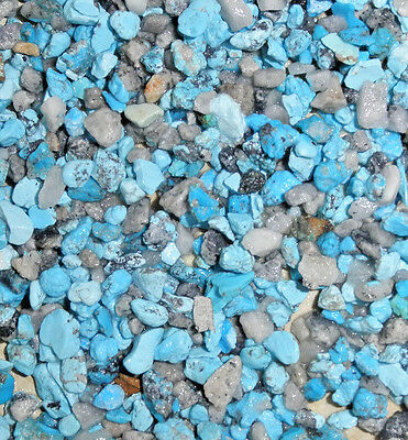 Crushed Natural Kingman Turquoise Inlay Material 2 pound for stone & wood
