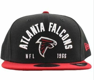 Atlanta Falcons Hat NFL New Era Establisher 9FIFTY Snapback Men's Cap Black OSFA