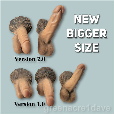 Set of 2 EXTRA LARGE male genitals penis for 1/6 Phicen action figure (UK stock)