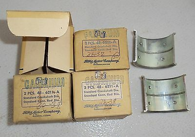 1932 1934 1936 1938 Ford Nos Engine Rod Bearing Set Genuine Ford Parts