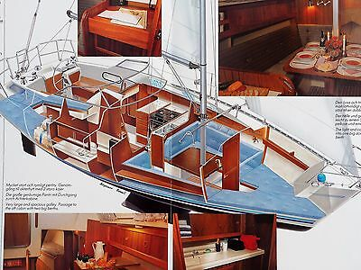 Maxi 33 yacht original brochure & specification/prices sheets 1991