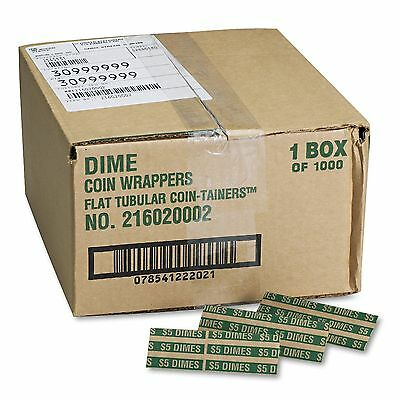 Coin-Trainer Company Pop-Open Flat Paper Coin Wrappers - Dimes - 1,000 ct.