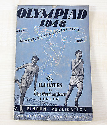 London Olympics 1948 London Evening News Records Book