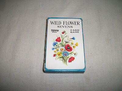Vintage Pepys 2nd edition Wild Flower Sevens Card Game
