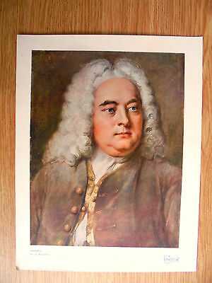 genuine 1907 print/picture of handel by g.knapton