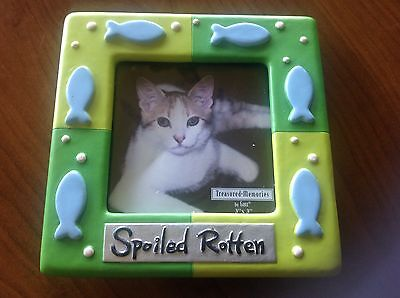 """Treasured Memories Picture Frame by Ganz """" Spoiled Rotten """" NEW IN BOX"""