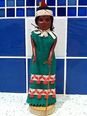 VINTAGE NATIVE CANADIAN  CARLSON DOLL ~ with Tag