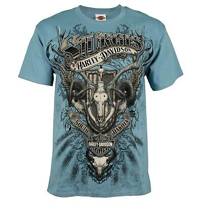 Sturgis Harley-Davidson® Men's Skull Collage Short Sleeve T-Shirt