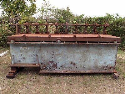 """(15989) 10' X 41"""" X 4-1/2"""" Thick Cast Iron Table"""