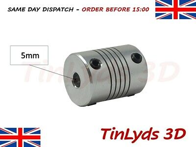 Flexible Shaft Coupling Coupler – 5x5mm shaft - 3D Printer Part CNC Machine