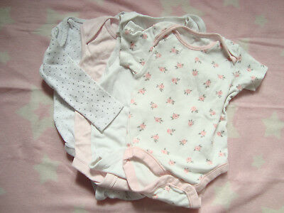 Baby girls Next bodysuits x 4 6-9 & 12-18 months 'used'