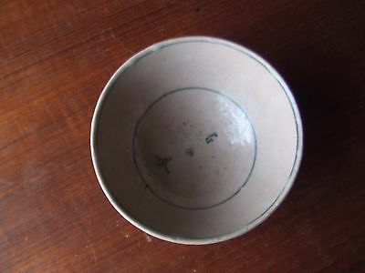 China.  Ming Dynasty.   A Signed Superb Blue Glazed Pottery Bowl,