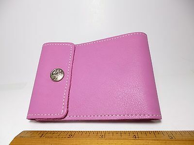 North Star Pink End Stub Leather Checkbook Cover-First Quality-Made In USA #134