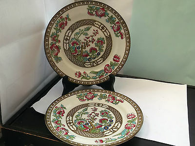 Two Retro Bridgwood Side / Dessert Plates In Indian Tree  Pattern
