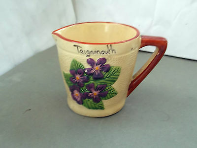 Manor Ware Small Milk Jug With Purple Violets   Teignmouth