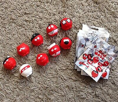 Set Of 9 Noses Red Nose Day 2017 - New with Opened Packaging
