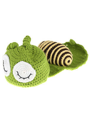 Baby Infant Green Snail Crochet Knitting Costume Soft Adorable Clothes Photo SS