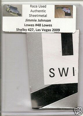 Jimmie Johnson authentic # 48 Lowes race used sheet-metal Las Vegas 2009