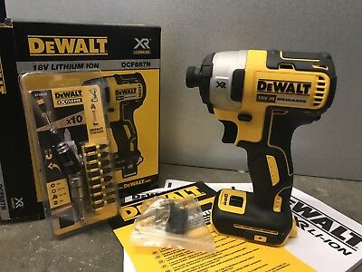 DeWalt DCF887N 18v Li-Ion XR Brushless 3-Speed Impact Driver + DT70518T Torsion