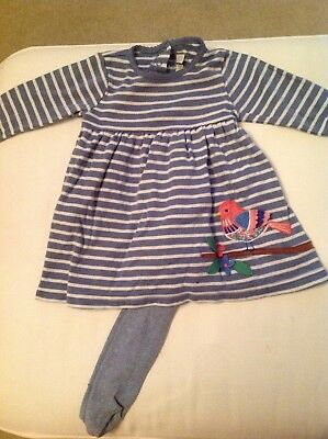 Jojo Maman Bebe 6-12 Months dress with tights