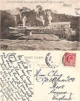 Gold Coast PPC Gold Mines Corporation Obuasi to England 1910