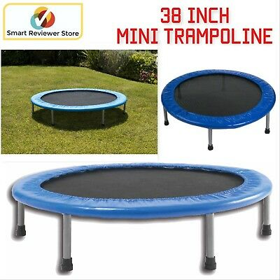 38 Inch Mini Band Trampoline Safe Elastic Exercise Workout Fun Kids Jump Play