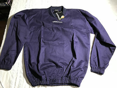 2x UHLSPORT Precision Football Rugby Drill Top (S) Navy Blue Warm BNWT RRP£19.99