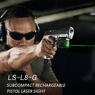 Rechargeable Ultra Compact GREEN Laser for Full size hand gun sub-compact pistol