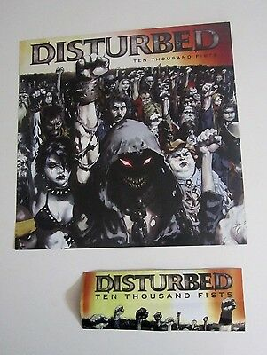 Disturbed Lot Sticker And Flat / Poster - Ten Thousand Fists