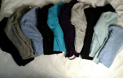 Lot 10 100% Cashmere Womens Sweaters Cutter Craft Upcycle Scrap Blue Gray 3+ Lbs