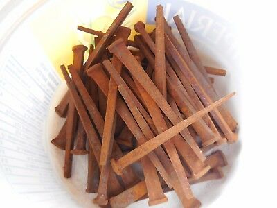 50 Antique Square Nails - 3 inch
