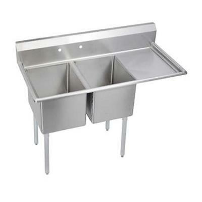 Elkay - 2C24X24-R-24X - 76 1/2 in Two Compartment Sink w/ Right Drainboard