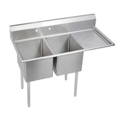 Elkay - 14-2C24X24-R-24X - 76 1/2 in Two Compartment Sink w/ Right Drainboard