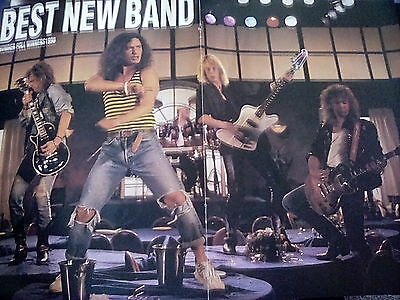 Original Thunder 1990 Best New Band Poster Double Page Kerrang Raw Metal Hammer