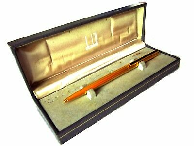 Rare Collectible Dunhill Gold Ballpoint Pen And Box