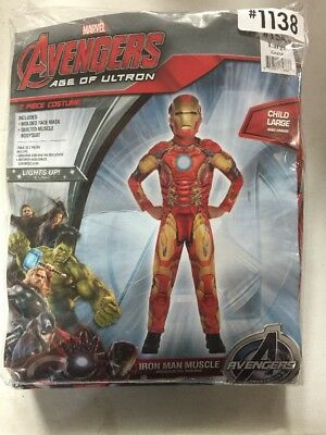 NEW Halloween Avengers Age Of Ultron Iron Man Muscle Costume Child Large