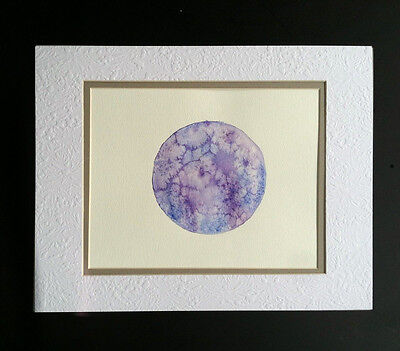 ARTIST SIGNED* ORIGINAL Full MOON WATERCOLOR painted during full moon protection