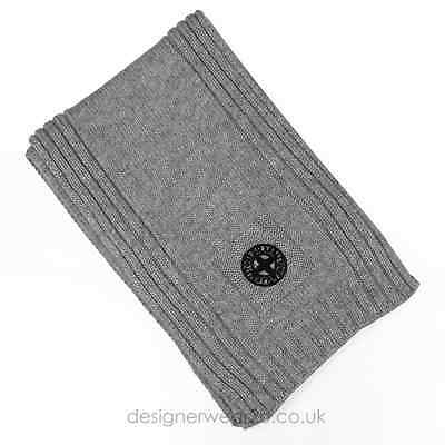 Stone Island Junior Grey Wool Mix Scarf