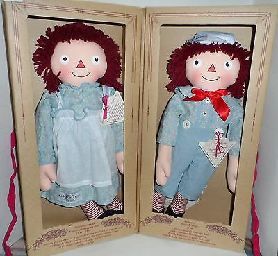 New 1998  Raggedy Ann & Andy 1930's Ltd. Edition Reproduction Dolls  By Applause