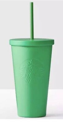 STARBUCKS COLD CUP MATTE GREEN STAINLESS STEEL TUMBLER 16 fl oz NEW