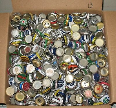 12 lbs 2500+/- used beer bottle caps for crafts box #13 free us shipping