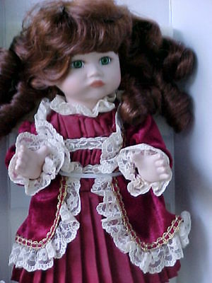 Court Of Dolls Pattie Full Body Porc 8 Inch Doll W/tag Christmas 10 Weeks Away!