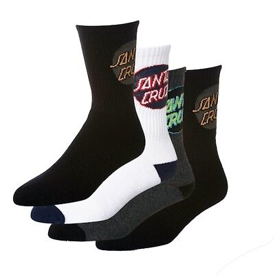 Santa Cruz - Cruz Pop 4 Pack Youth Socks